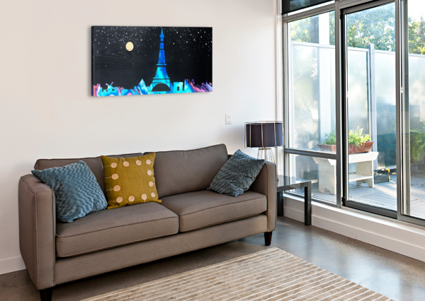 I LOVE PARIS ON WOOD 2 COLOURS N CREATIONS  Canvas Print