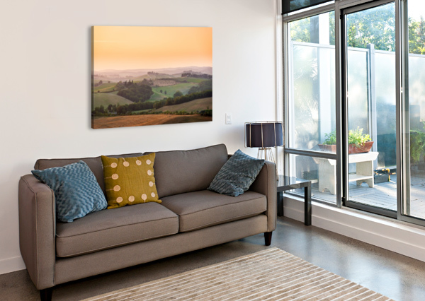 TUSCANY SUNSET ANDREA SPALLANZANI  Canvas Print