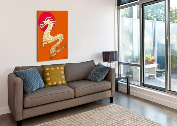 ASIAN DRAGON ICON NO.1 JAYNE SOMOGY  Canvas Print