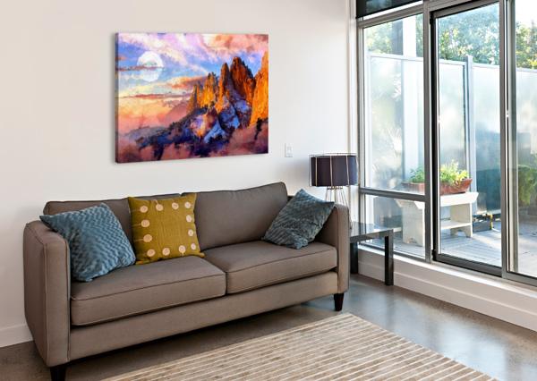 COLORADO MOUNTAINS - DIGITAL PAINTING III ART DESIGN WORKS  Canvas Print
