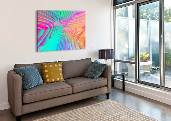 ABSTRACT COLORFUL WAVES ART DESIGN WORKS  Canvas Print
