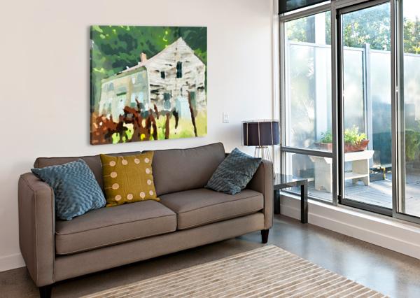 CUMMINGTON OLD HOUSE HARRY FORSDICK  Canvas Print