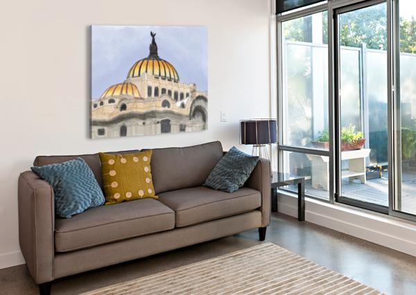 MEXICO CITY PALACIO BELLAS ARTES HARRY FORSDICK  Canvas Print