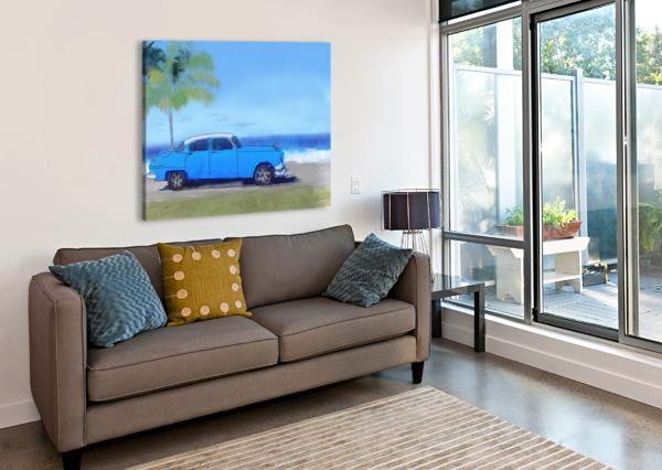CUBA BLUE CAR HARRY FORSDICK  Canvas Print