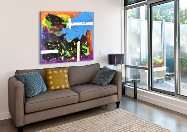 BRIGHT ABSTRACT. WALKER W. THE ARC OF THE CAPITAL AREA  Canvas Print