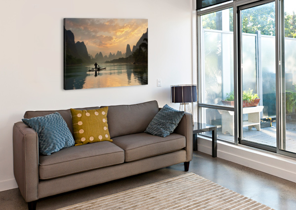 GOLDEN LI RIVER 1X  Canvas Print