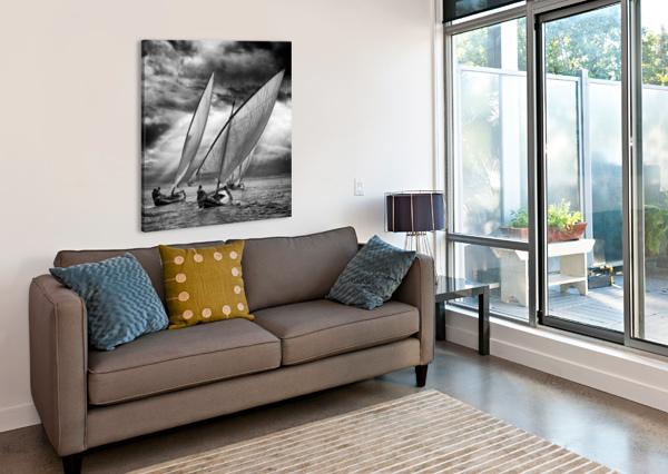 SAILBOATS AND LIGHT 1X  Canvas Print