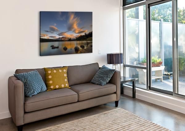 TWO JACK LAKE SUNSET 1X  Canvas Print