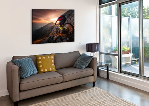 GOLDEN HOUR HIGH ALPINE RIDE 1X  Canvas Print