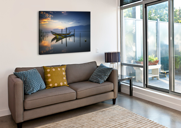 THE BOATS 1X  Canvas Print