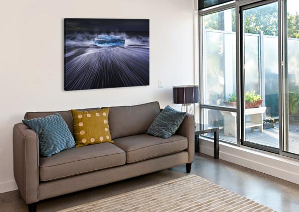 BLUE DIAMOND 1X  Canvas Print