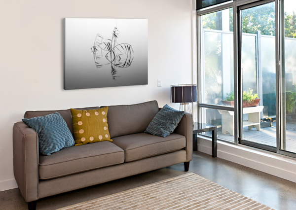 ANGELFISHES 1X  Canvas Print