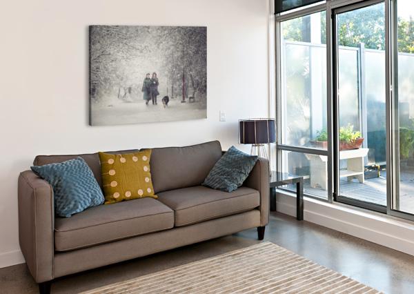 SNOW STORM CHARM 1X  Canvas Print