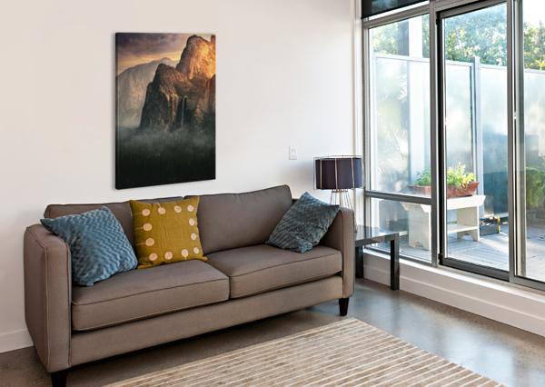 BRIDALVEIL FALL, YOSEMITE 1X  Canvas Print