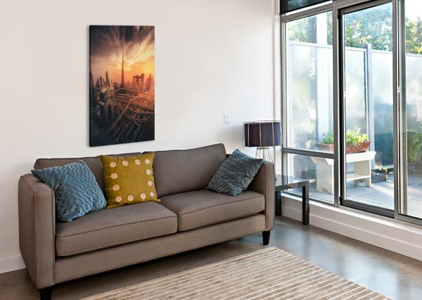 DUBAI'S FIERY SUNSET 1X  Canvas Print