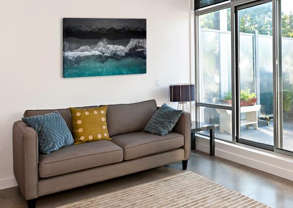 BLACK BEACH 1X  Canvas Print