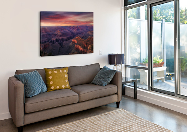 CANYON ON FIRE 1X  Canvas Print