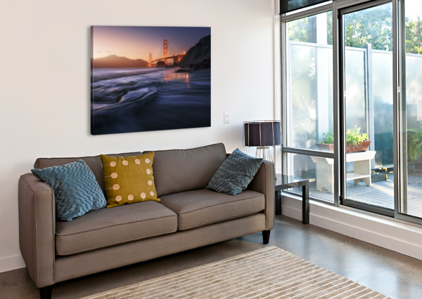 GOLDEN BEACH 1X  Canvas Print