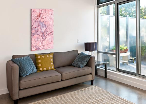 PINK MARBLE ART DESIGN WORKS  Canvas Print
