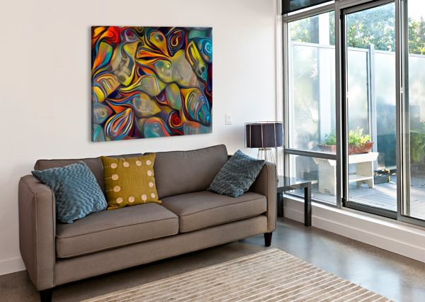 SEASHELL COLORFUL PATTERN BRUCE ROLFF  Canvas Print
