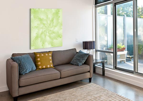 GREEN SNOWFLAKE RIZU_DESIGNS  Canvas Print