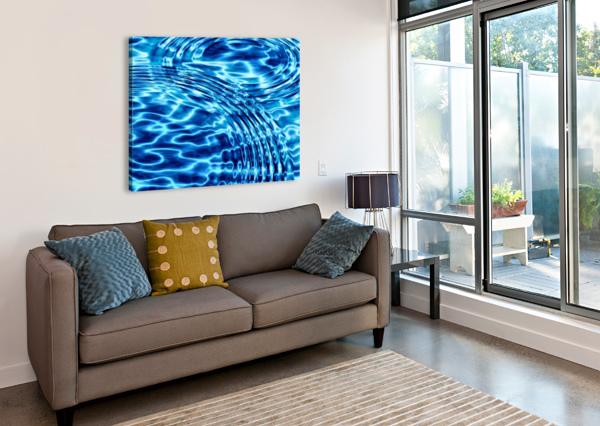 WATER CIRCLES ART AND INSPIRATION  Canvas Print