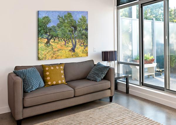 OLIVE TREES BY VAN GOGH VAN GOGH  Canvas Print