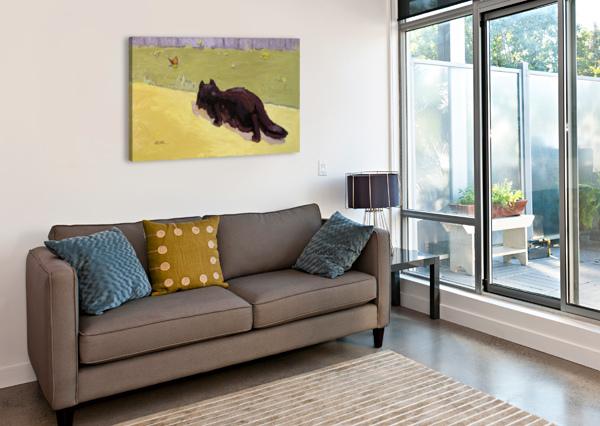 CAT AND BUTTERFLY IVAN KOLISNYK  Canvas Print