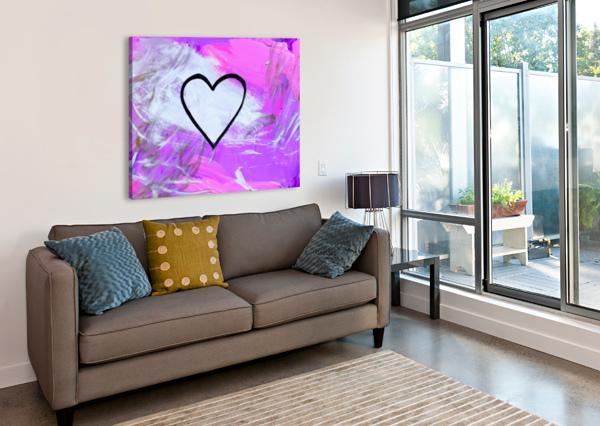 LOVE IS A FEELING. JESSICA B THE ARC OF THE CAPITAL AREA  Canvas Print