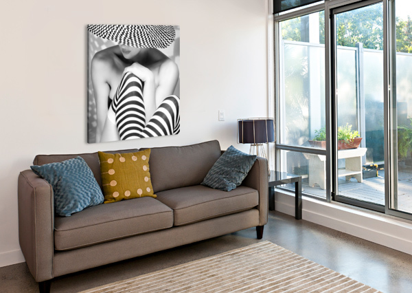 ZAGGING THAT ZIG 1X  Canvas Print