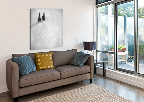 DRAWING HIS OWN 1X  Canvas Print
