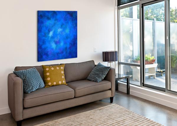 DENITAMESSA - DEEP BLUE WORLD CERSATTI ART  Canvas Print