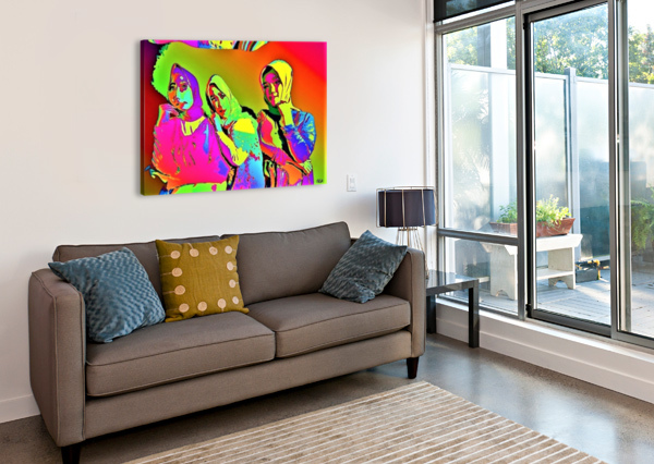 THREE FRIENDS - BY NEIL GAIRN ADAMS NEIL GAIRN ADAMS  Canvas Print