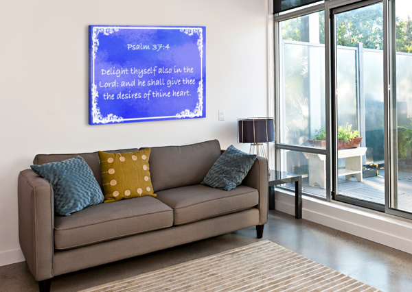 PSALM 37 4 9BL SCRIPTURE ON THE WALLS  Canvas Print