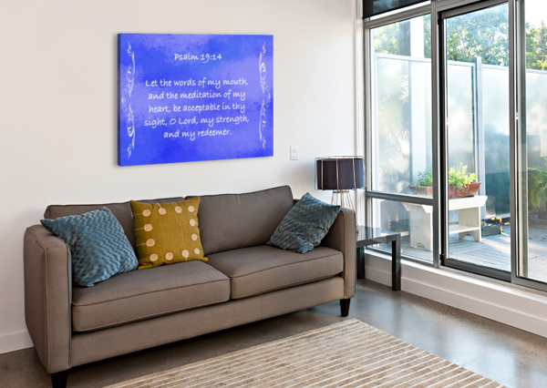 PSALM 19 14 4BL SCRIPTURE ON THE WALLS  Canvas Print