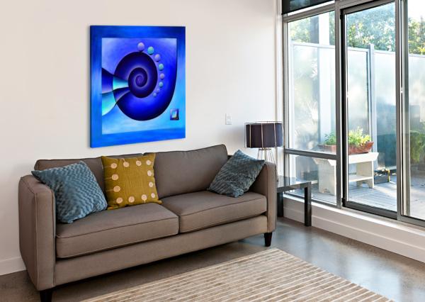 ESCANISSIMERA - ENDLESSLY LIMITED BLUE SPIRAL SNAIL CERSATTI ART  Canvas Print