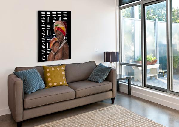 AFRICAN MOTHERHOOD AFROCENTRIC PAINTER  Canvas Print