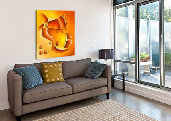 SANKHIASSA - DRAGONFLY WITH ORANGE SKY CERSATTI ART  Canvas Print