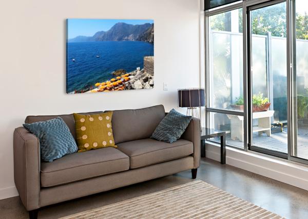 PRAIANO BEACH - AMALFI COAST BENTIVOGLIO PHOTOGRAPHY  Canvas Print