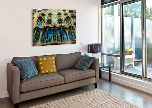 CASA MILLA - BARCELONA - SPAIN LANDMARK BENTIVOGLIO PHOTOGRAPHY  Canvas Print
