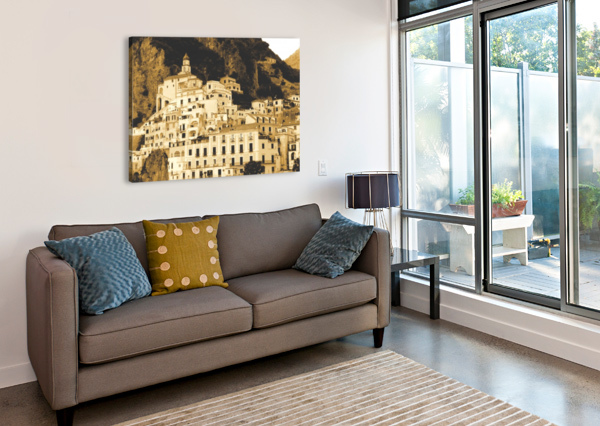 LANDSCAPE - AMALFI VILLAGE - ITALY BENTIVOGLIO PHOTOGRAPHY  Canvas Print