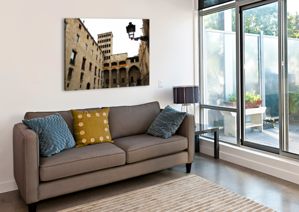 GOTHIC QUARTER - CATALUNYA - SPAIN LANDMARK BENTIVOGLIO PHOTOGRAPHY  Canvas Print