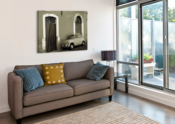 VINTAGE CAR IN BLACK AND WHITE BENTIVOGLIO PHOTOGRAPHY  Canvas Print