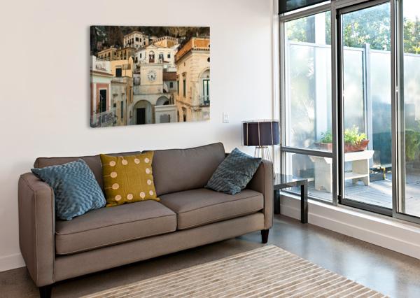 CHURCH CLOCK - ITALY  BENTIVOGLIO PHOTOGRAPHY  Impression sur toile