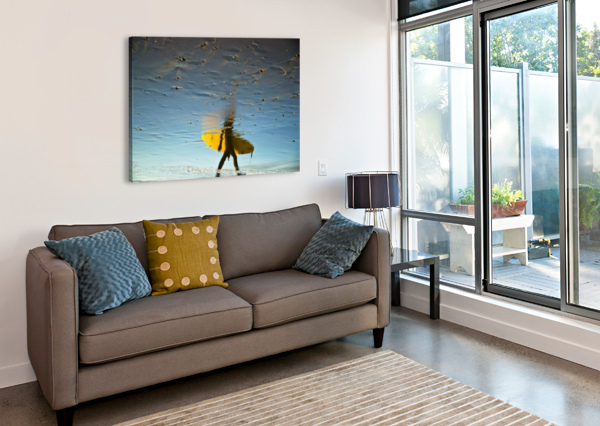 YELLOW SURFER ANDREW LEVER GALLERY  Canvas Print