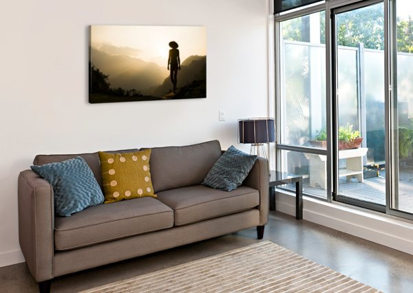 SILHOUETTE IN SAPA ANDREW LEVER GALLERY  Canvas Print