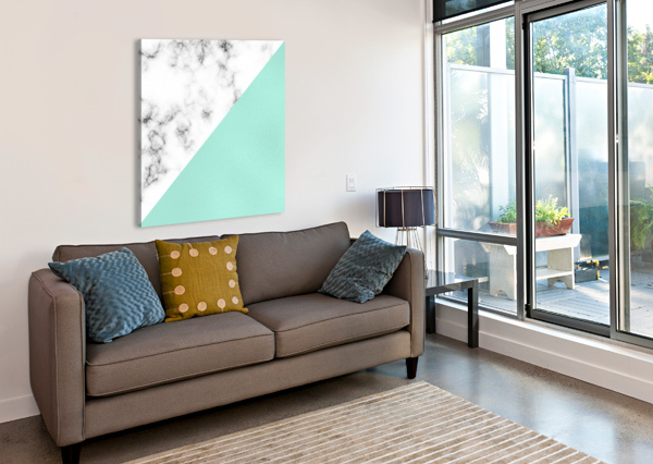 ABSTRACT MODERN TURQUOISE GLASS MARBLE RIZU_DESIGNS  Canvas Print