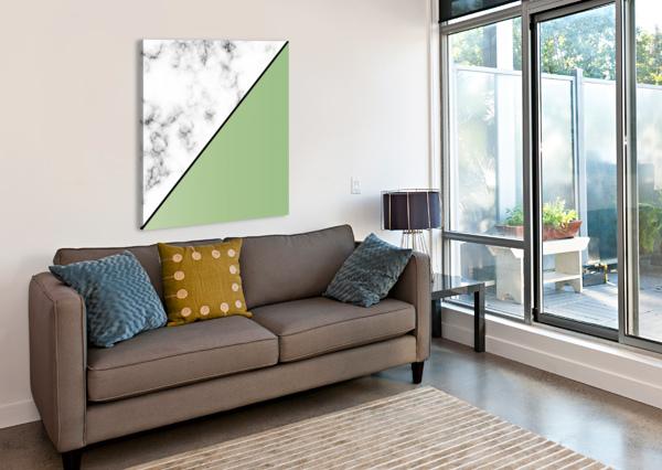 ABSTRACT MODERN YELLOW GREEN MARBLE RIZU_DESIGNS  Canvas Print