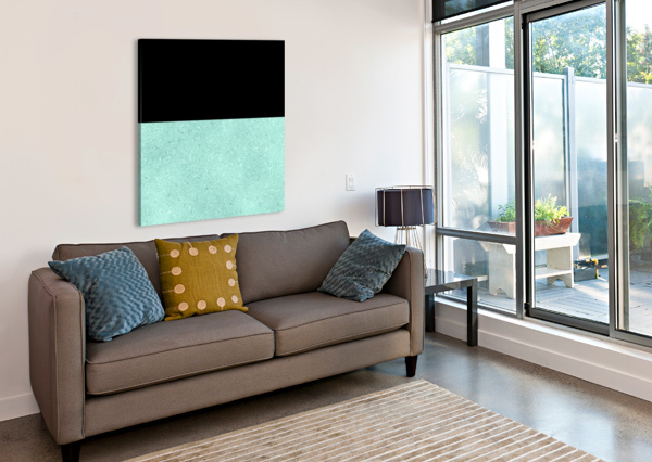 ABSTRACT TURQUOISE GLITTER RIZU_DESIGNS  Canvas Print