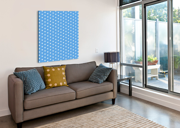 CORNFLOWER HEART SHAPE PATTERN RIZU_DESIGNS  Canvas Print